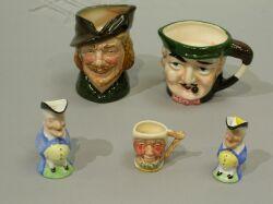Five English Ceramic Toby Jugs