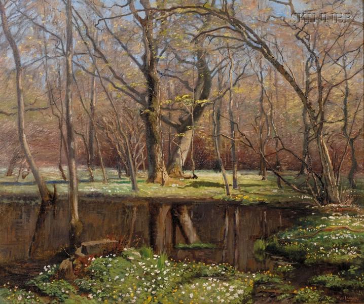 Olaf Viggo Langer (German, 1860-1942)      Woodland Pond