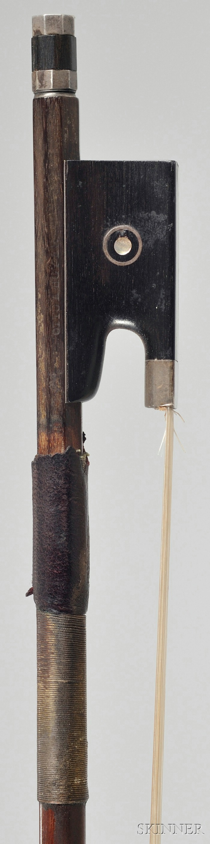 Silver Mounted Violin Bow, Otto Hoyer Workshop