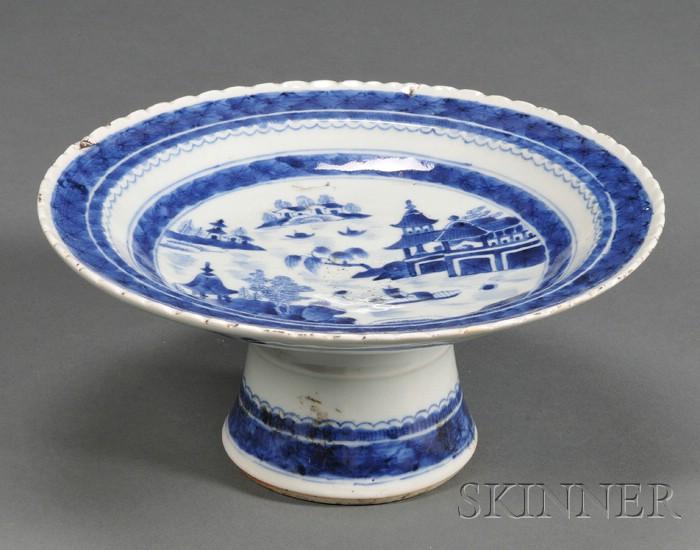 Canton Porcelain Compote