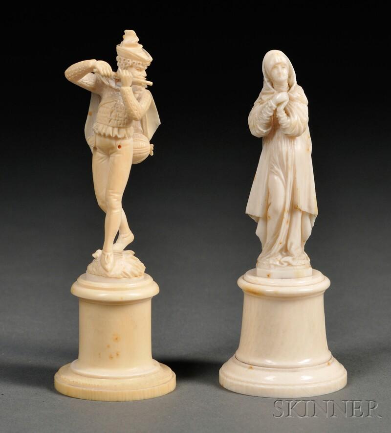 Two European Figural Ivories