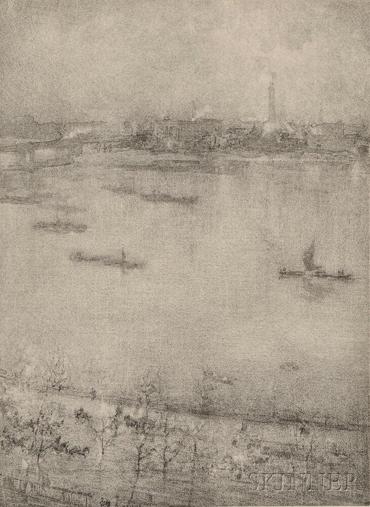 James Abbott McNeill Whistler (American, 1834-1903)      The Thames