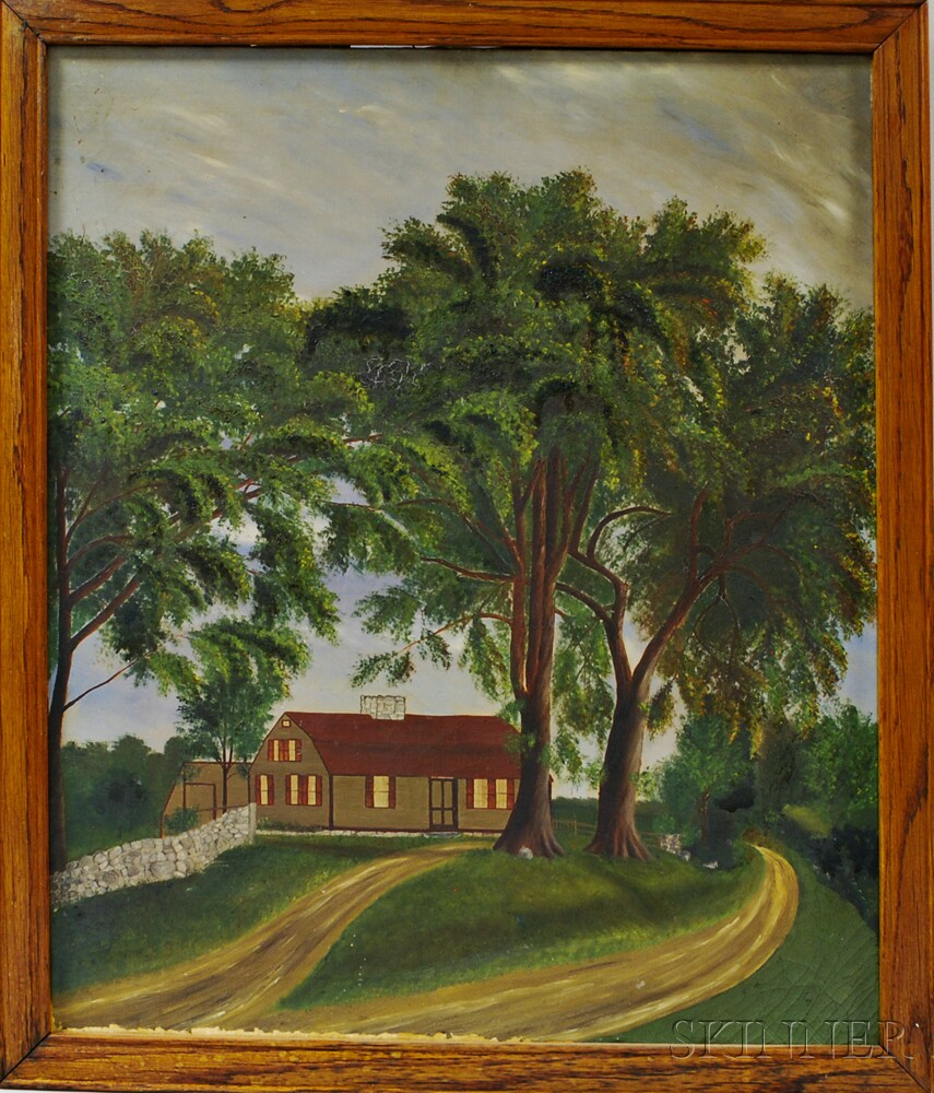 Possibly Ole Johnson (American/Norwegian, 19th Century)      The Johnson House, Upton