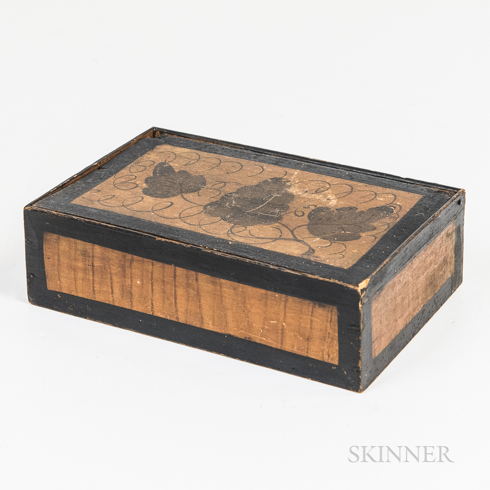 Small Grapevine-decorated Pine Box