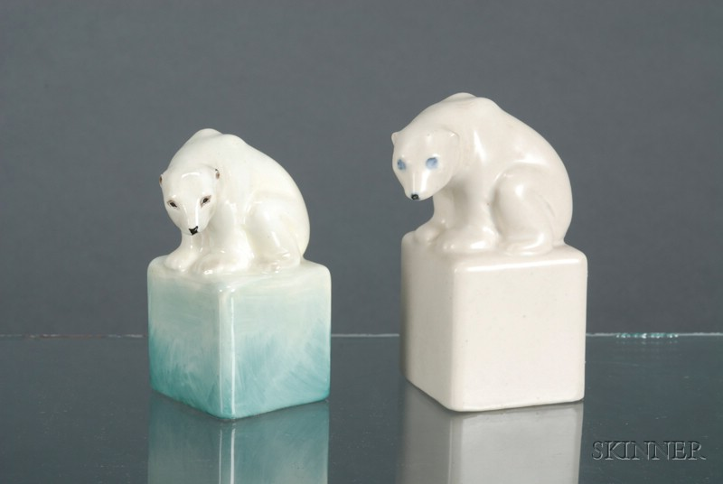 Two Doulton Polar Bears