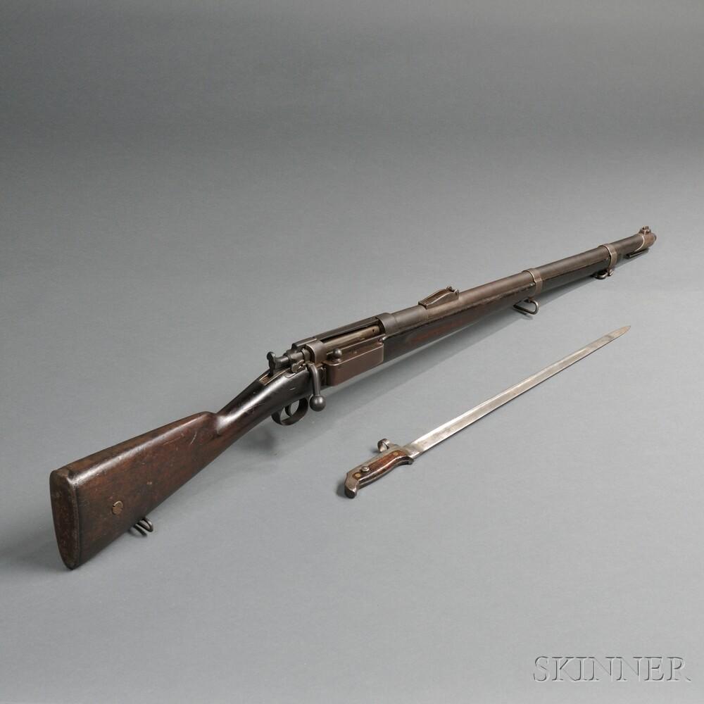 Danish Model 1889 Krag Rifle and Bayonet