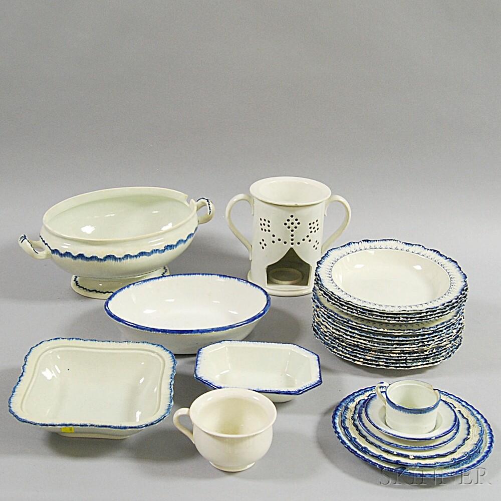 Twenty-eight Pieces of Creamware