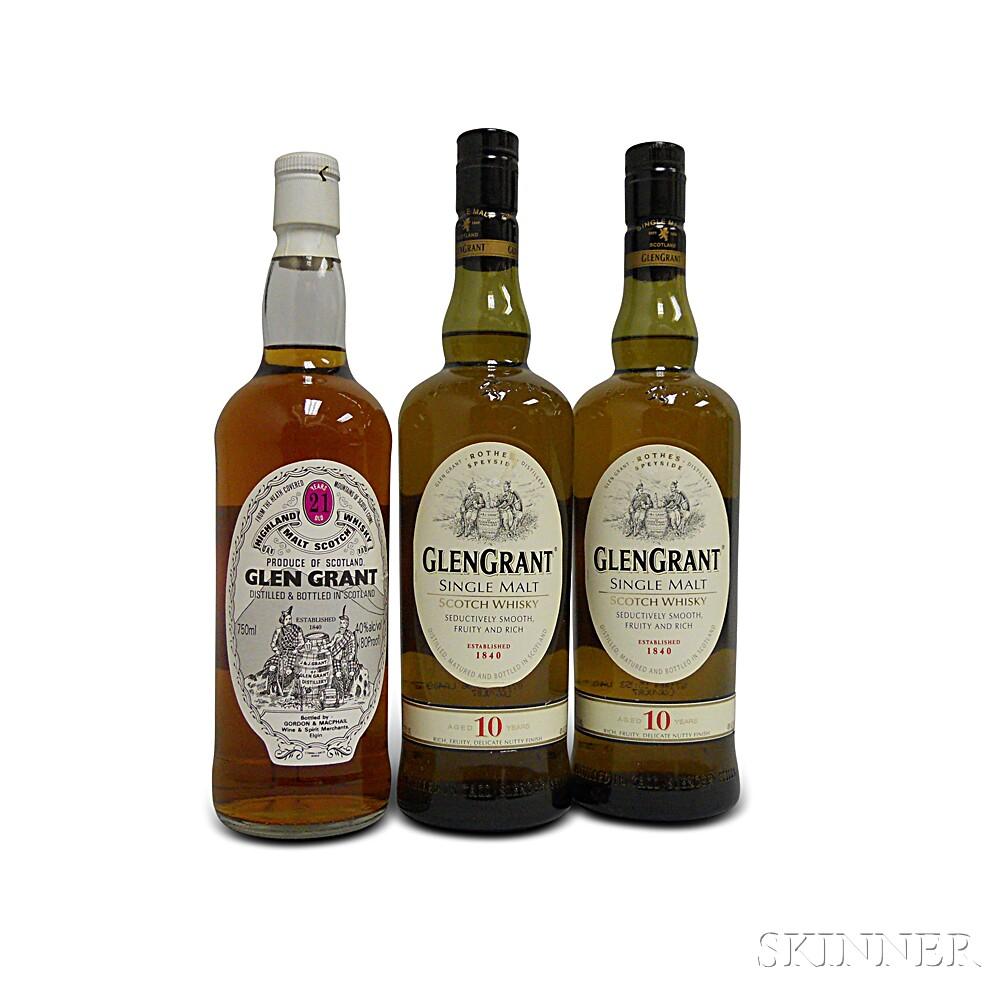 Mixed Glen Grant, 3 750ml bottles