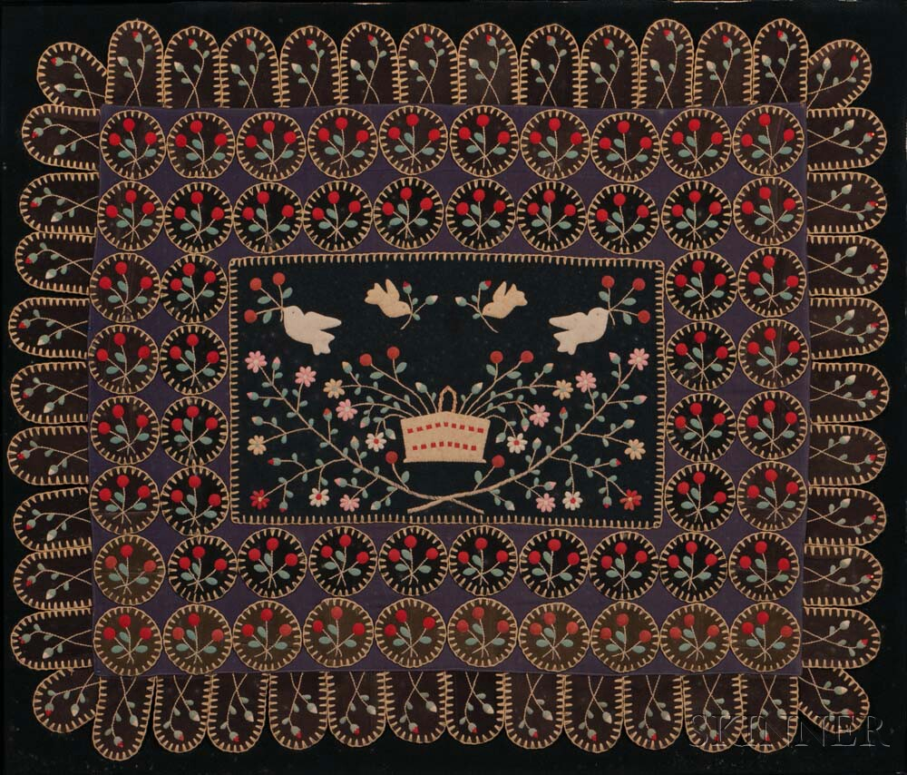 Embroidered Applique Table Mat