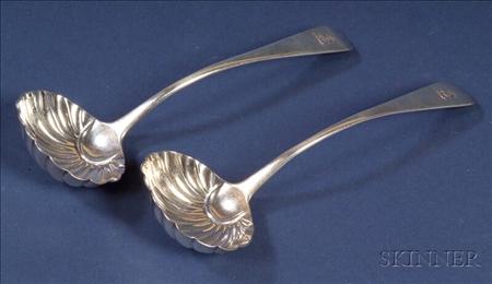 Pair of George III Silver Sauce Ladles