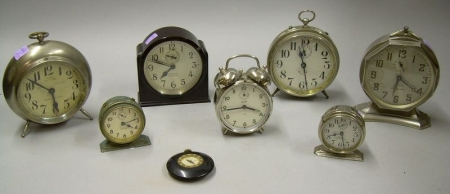 Lot of Seven Alarm Clocks