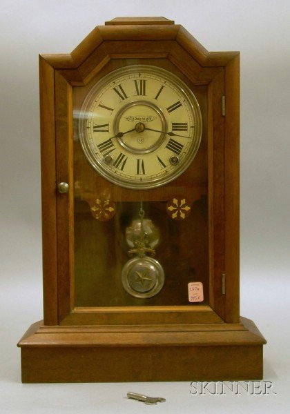 """Atlanta"" Model Seth Thomas Walnut Mantel Clock"