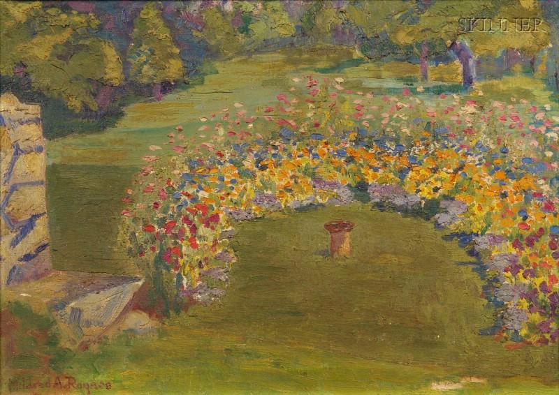 American School, 20th Century      Garden in Springtime