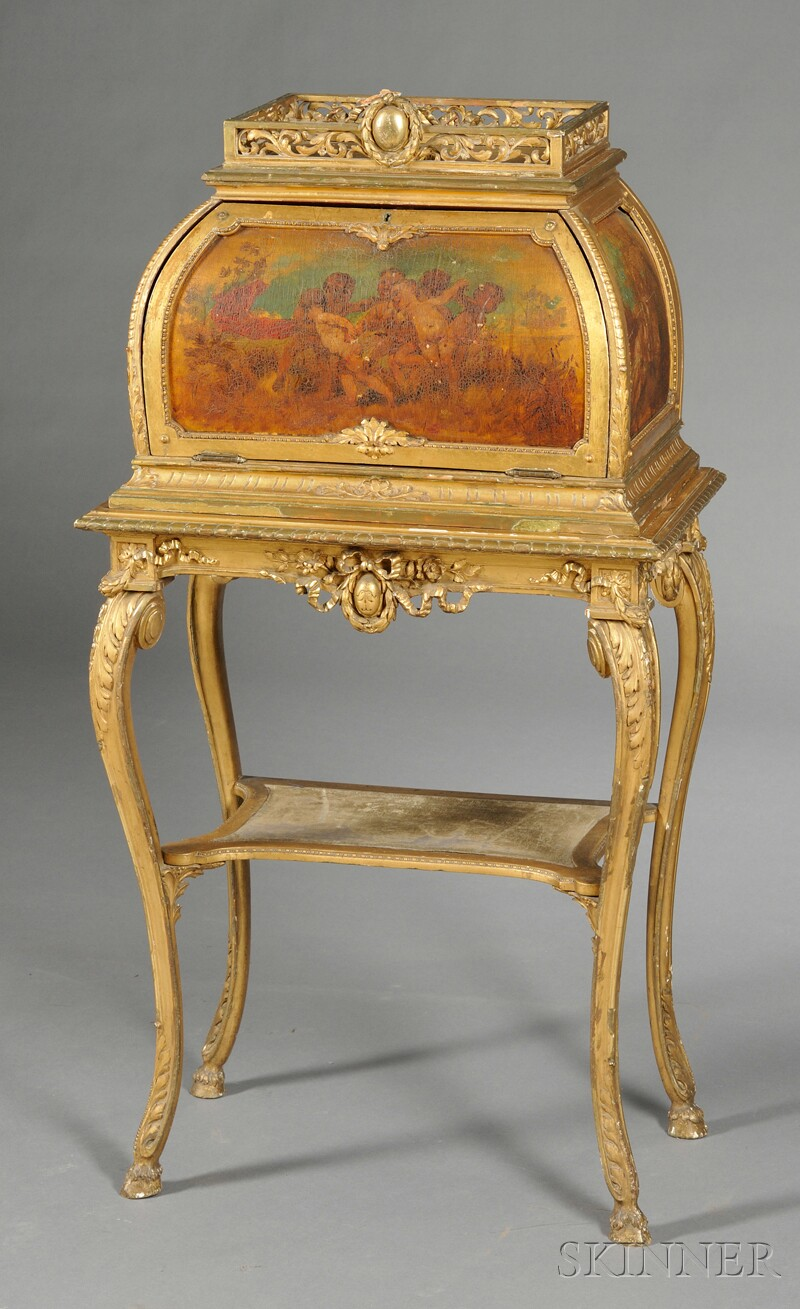 Louis XV-style Vernis Martin Box on Stand
