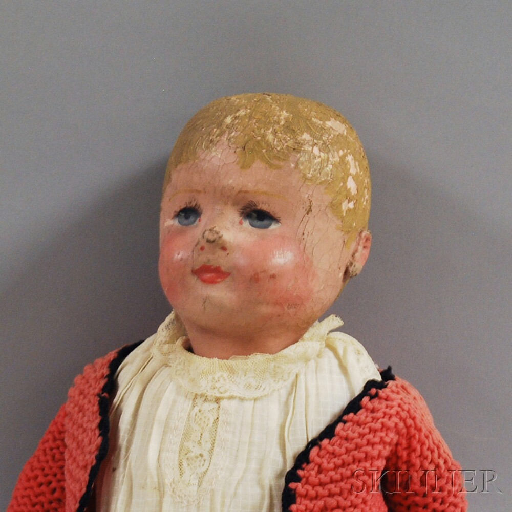 Oil-painted Martha Chase-type Stockinette Doll