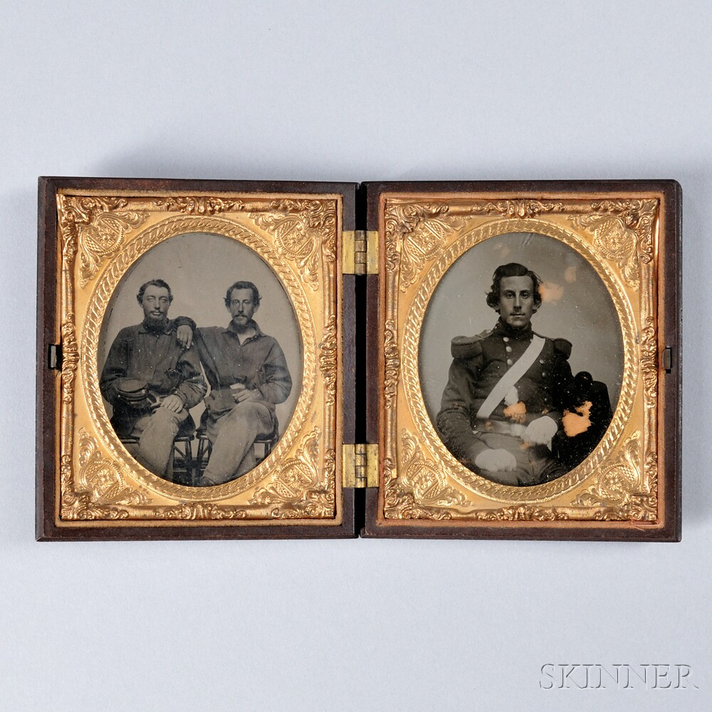 Tintype and Ambrotype Portraits of Soldiers in Case
