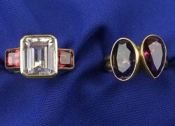 Two 18kt Gold and Gem-set Rings