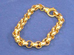 Italian 14kt Gold Link Bracelet.