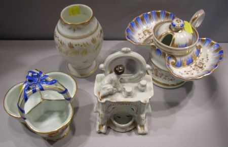 Four Continental and British Porcelain Articles