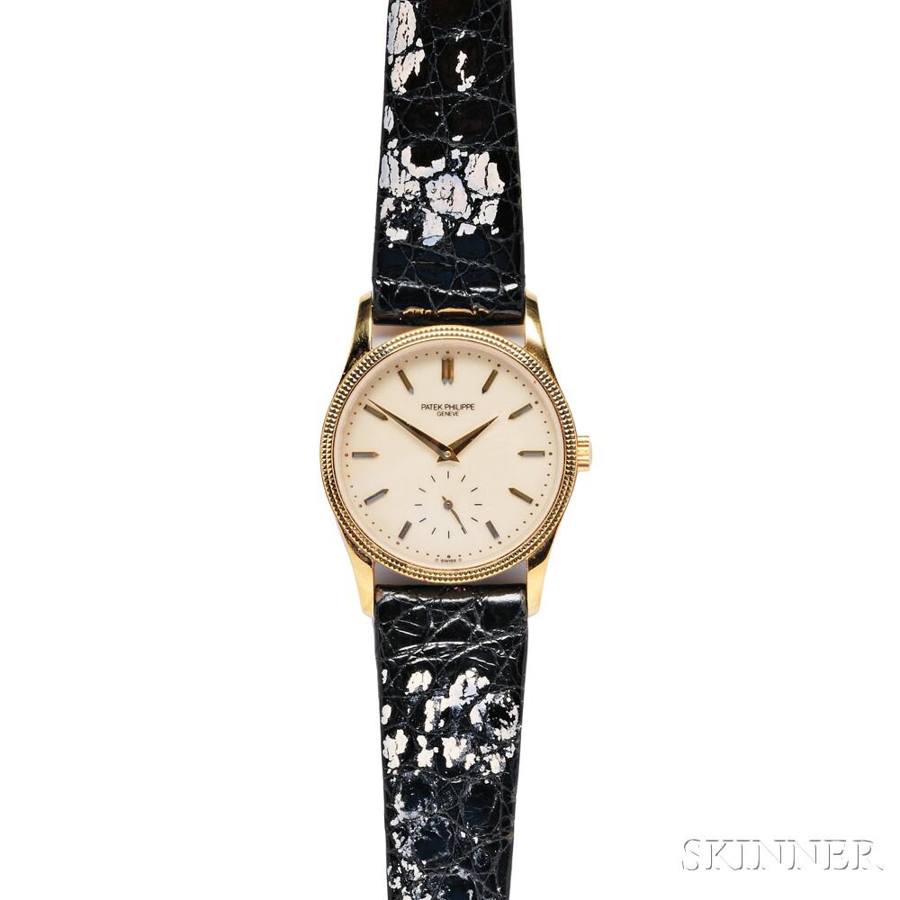 "Gentleman's 18kt Gold ""Calatrava"" Wristwatch, Patek Philippe"