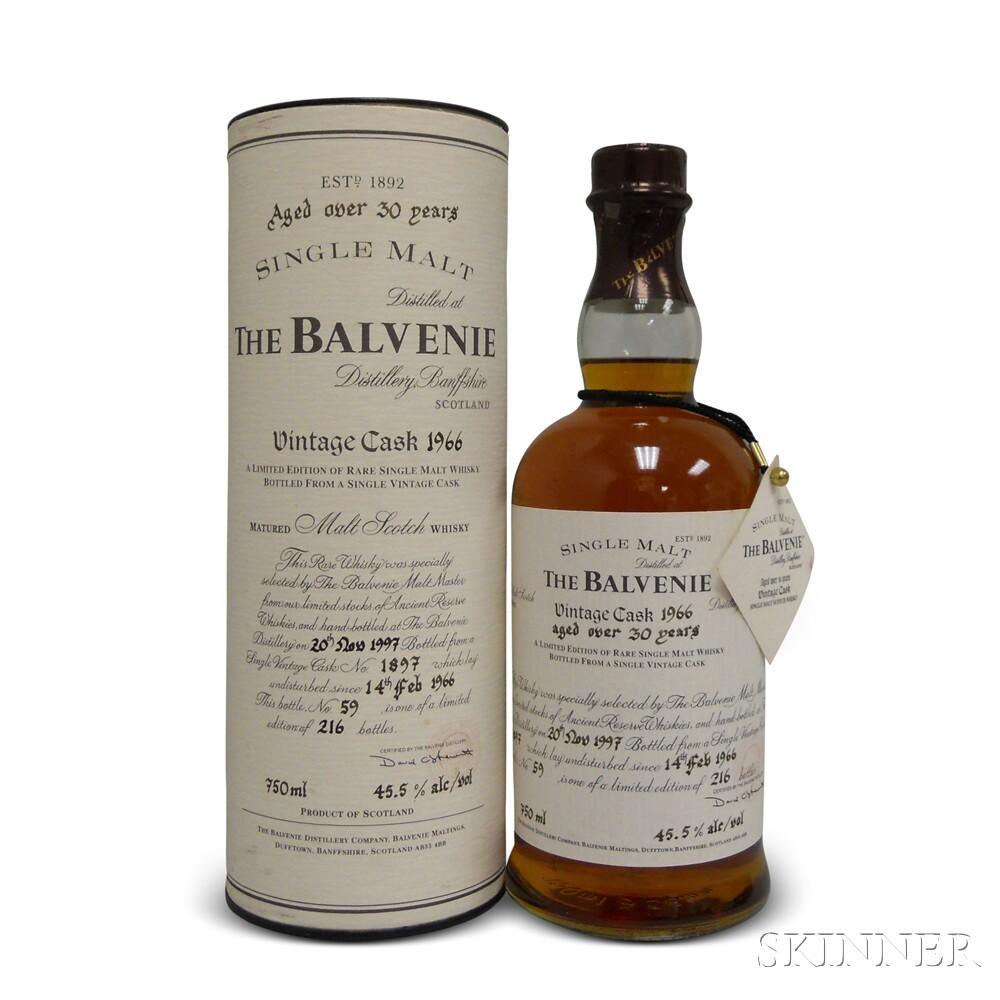 Balvenie Over 30 Years Old 1966, 1 750ml bottle (ot)