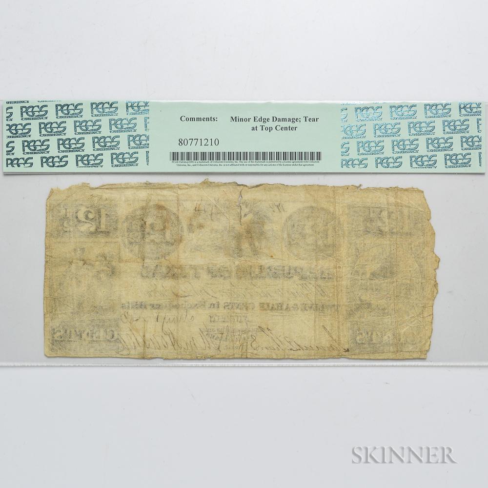 1843 Republic of Texas 12 1/2 Cent