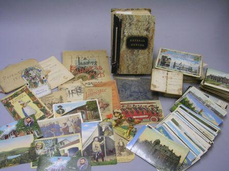 Lot of Paper Ephemera, Postcards, Pamphlets, Etc.