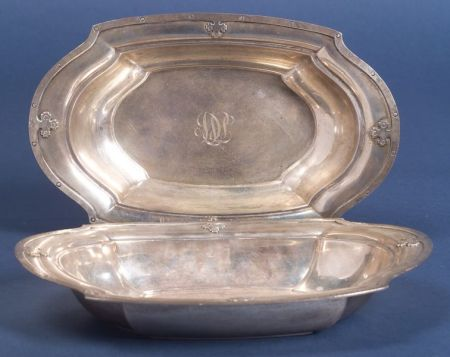 "Pair of Wallace Sterling ""Carmel "" Open Vegetable Dishes"