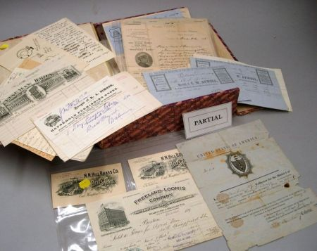 Collection of 19th/20th Century Letterheads and Billheads, 18th Century Documents,   and Ephemera