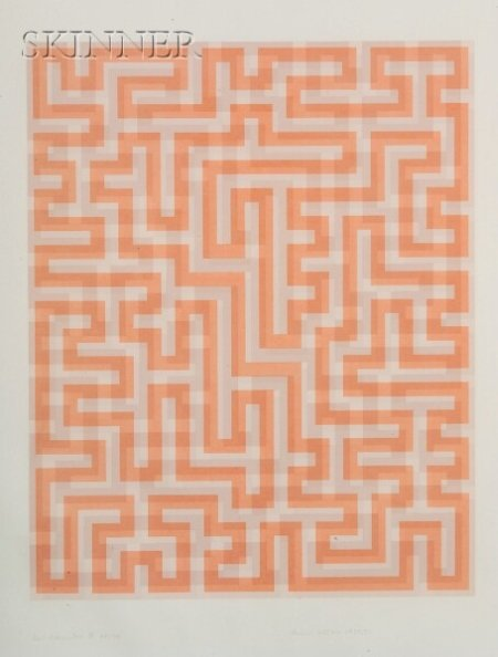Anni Albers (German, 1899-1994)    Red Meander II