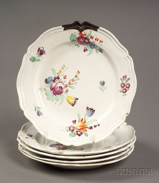Five 18th Century Faience Plates