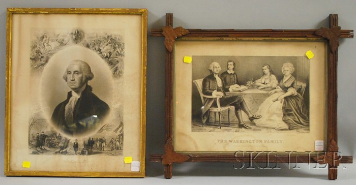 Two Framed Prints Depicting George Washington