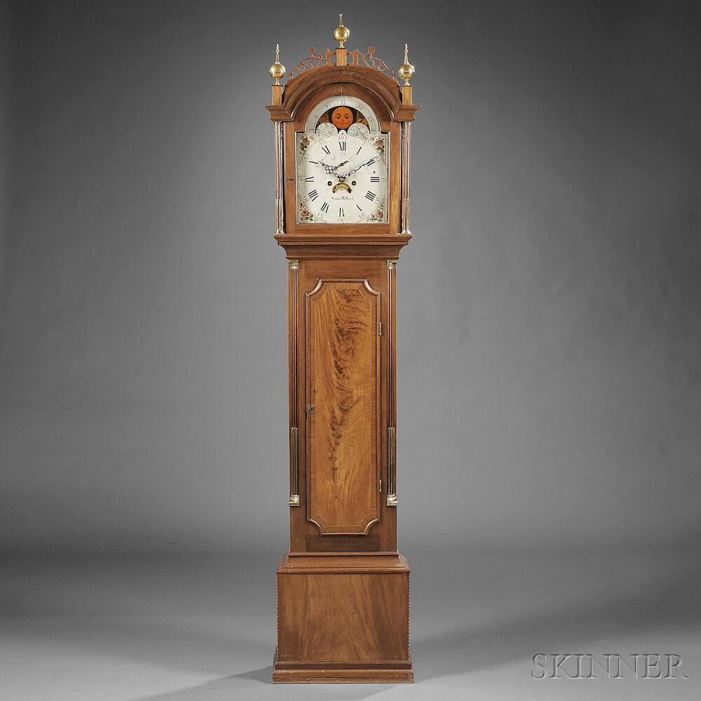 Simon Willard Mahogany Tall Clock