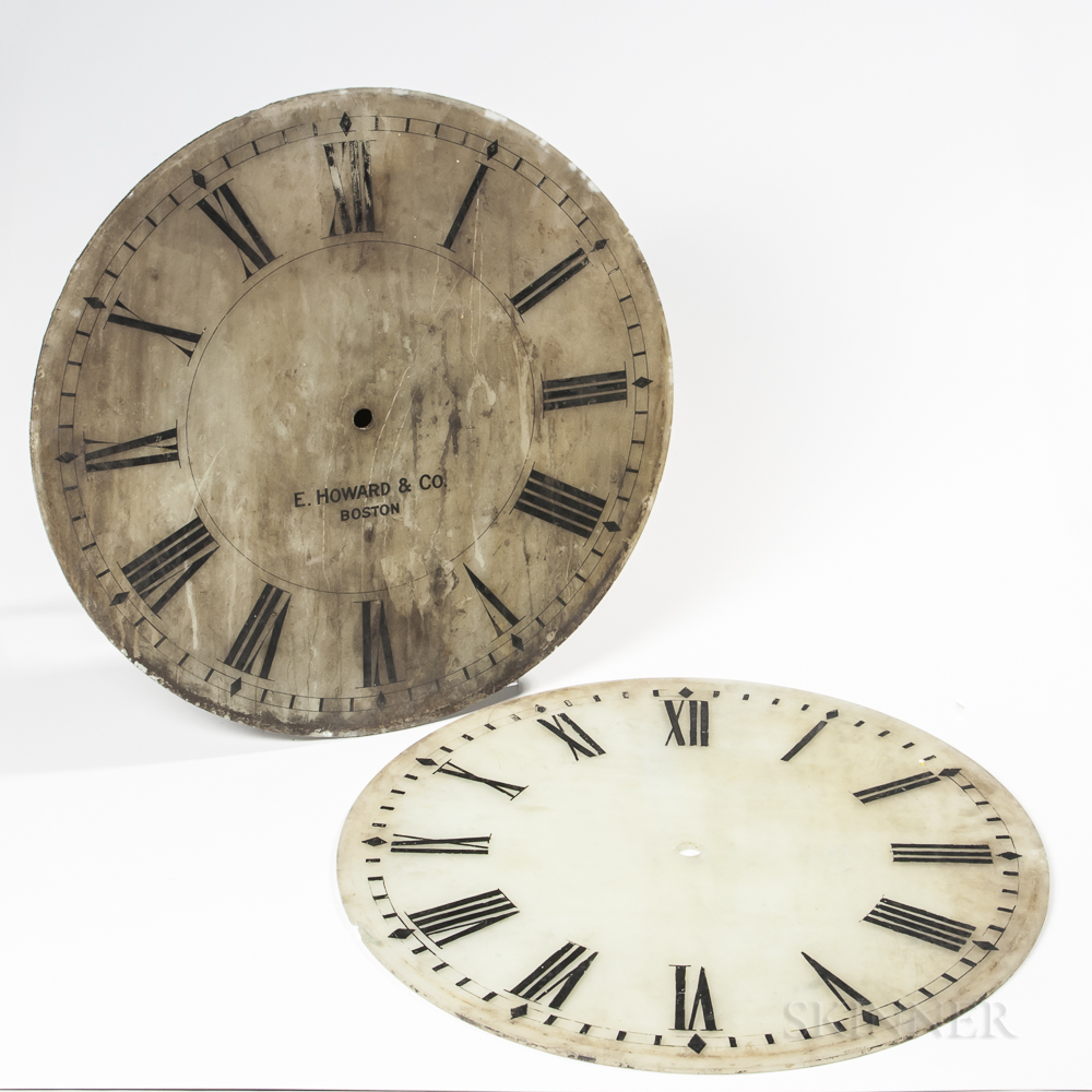 E. Howard & Co. 24-inch Glass Tower Clock Dial