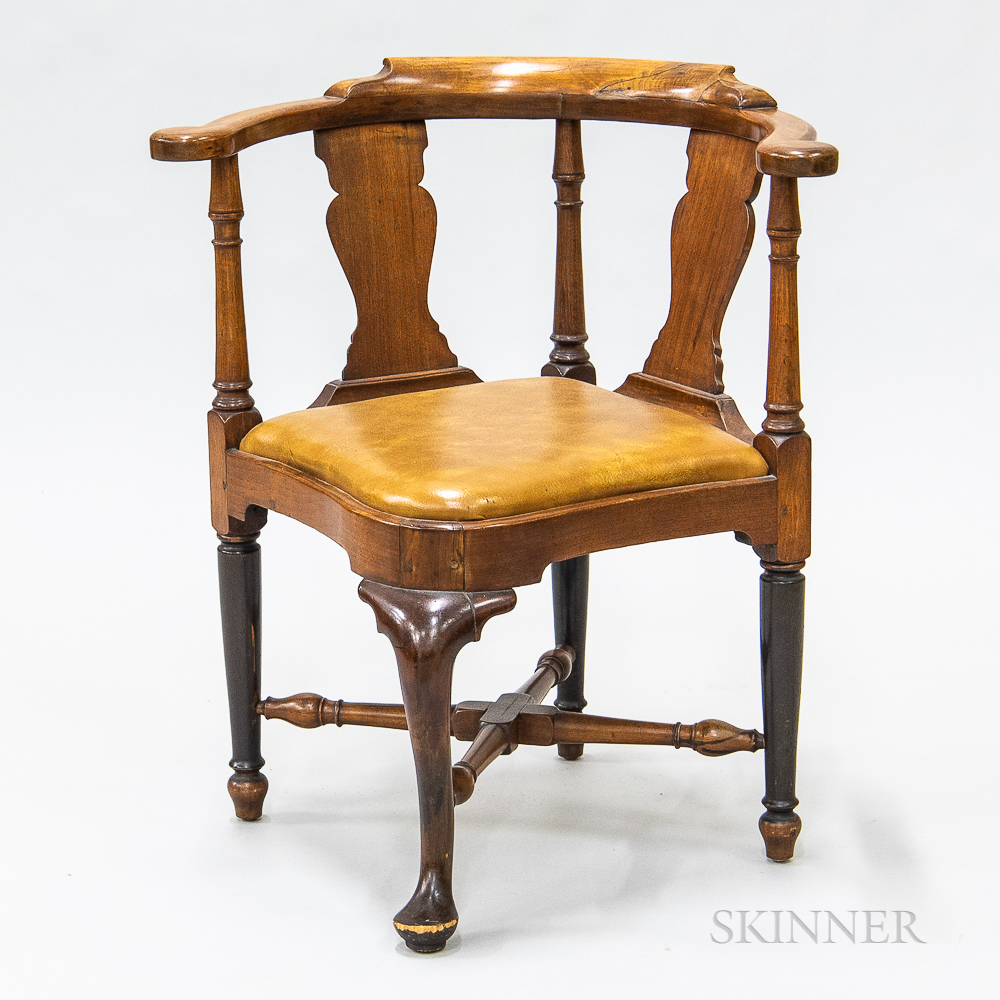 Georgian-style Walnut Roundabout Chair