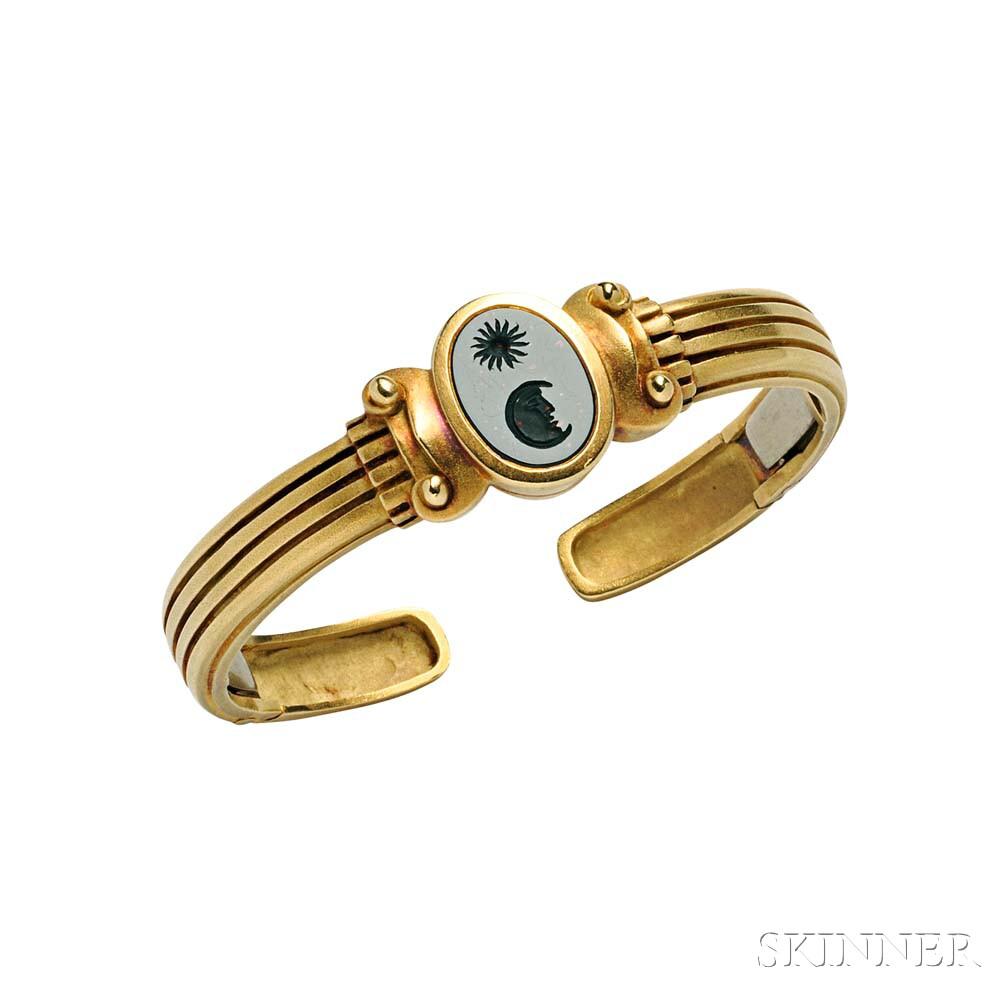 18kt Gold and Intaglio Bracelet, Barry Kieselstein-Cord