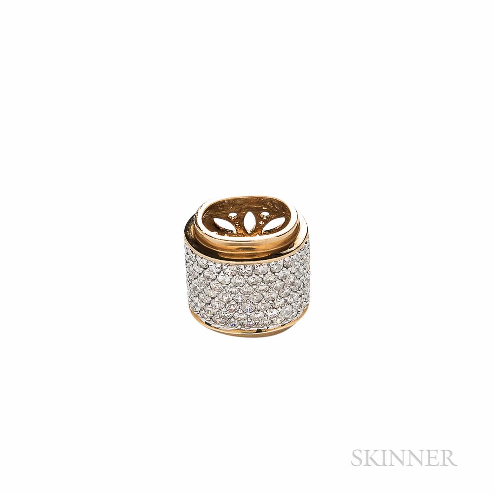 18kt Gold and Diamond Enhancer