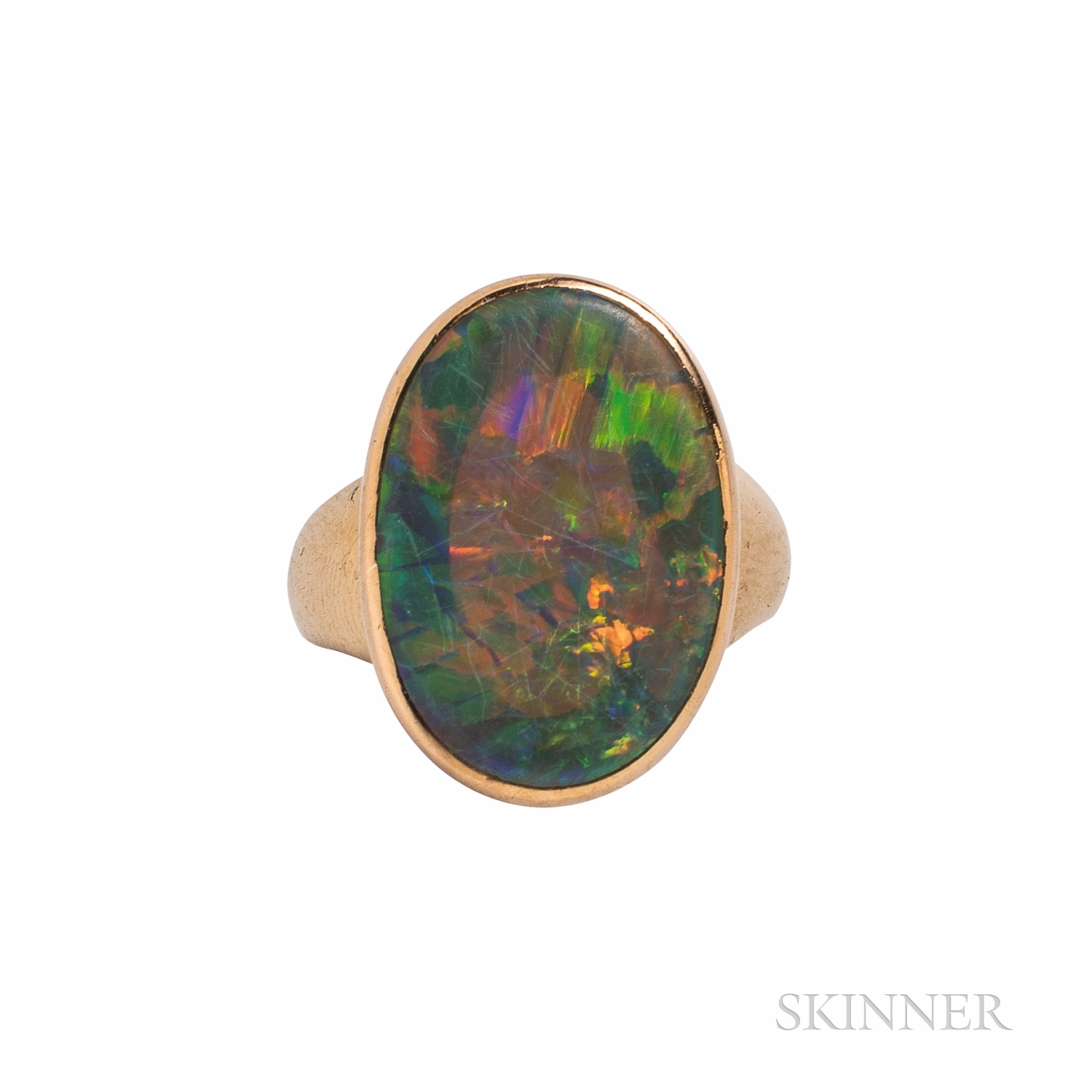 14kt Gold and Black Opal Ring