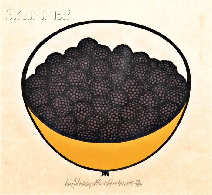 Jacques Hnizdovsky (American/Ukrainian, 1915-1985)      Blackberries