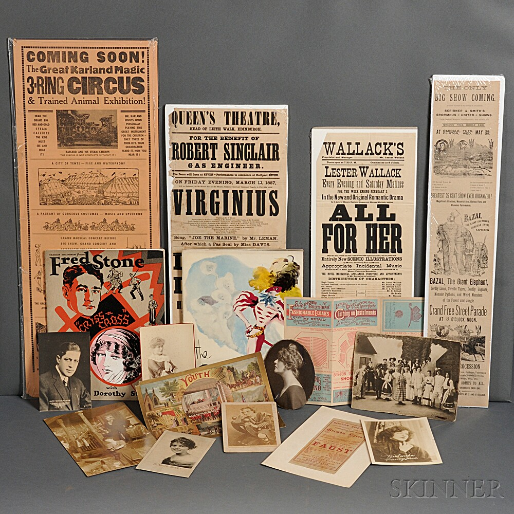 Theatre, Archive of Ephemera, Early 20th Century.