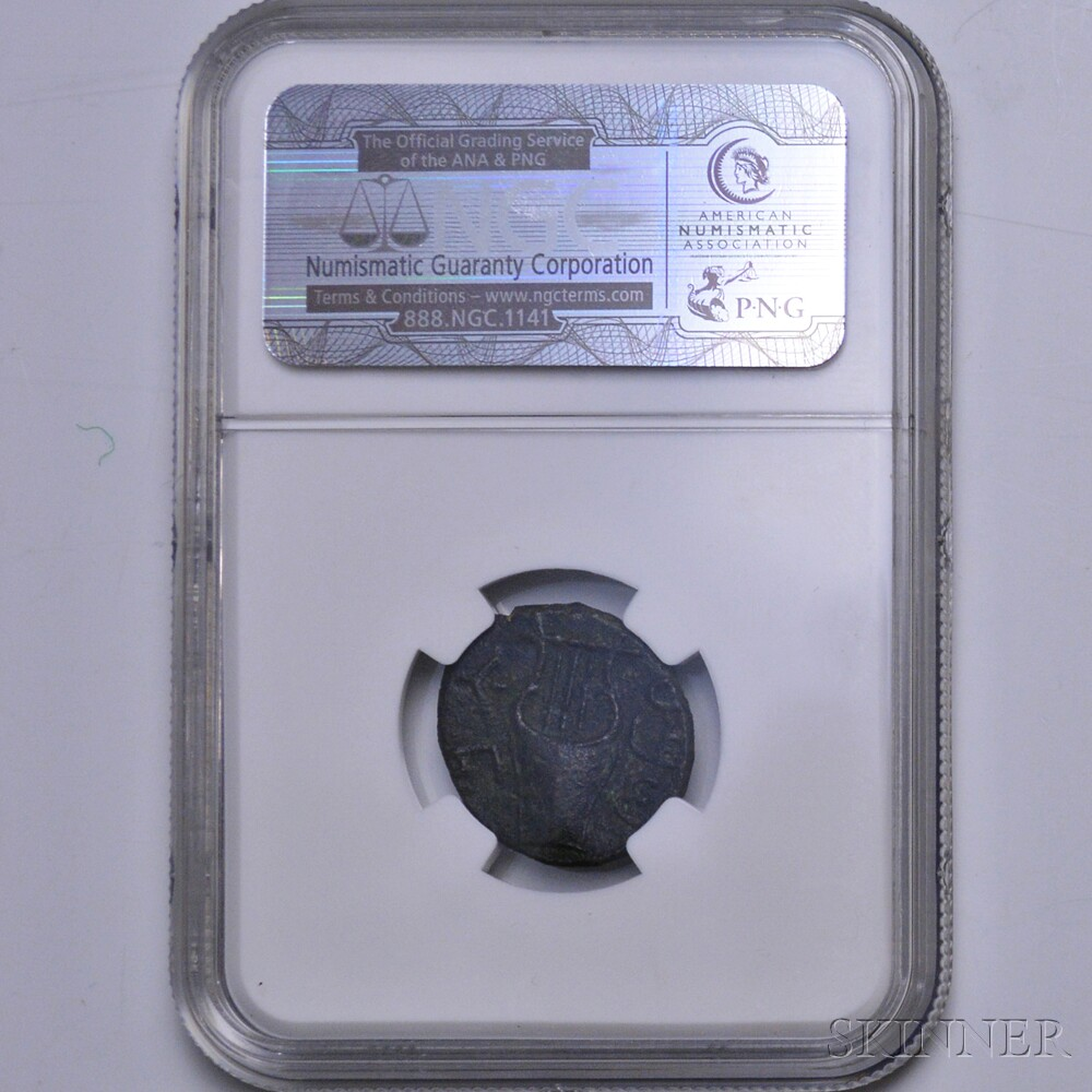 "Judaean Bar Kokhba ""Middle Bronze,"" NGC XF"