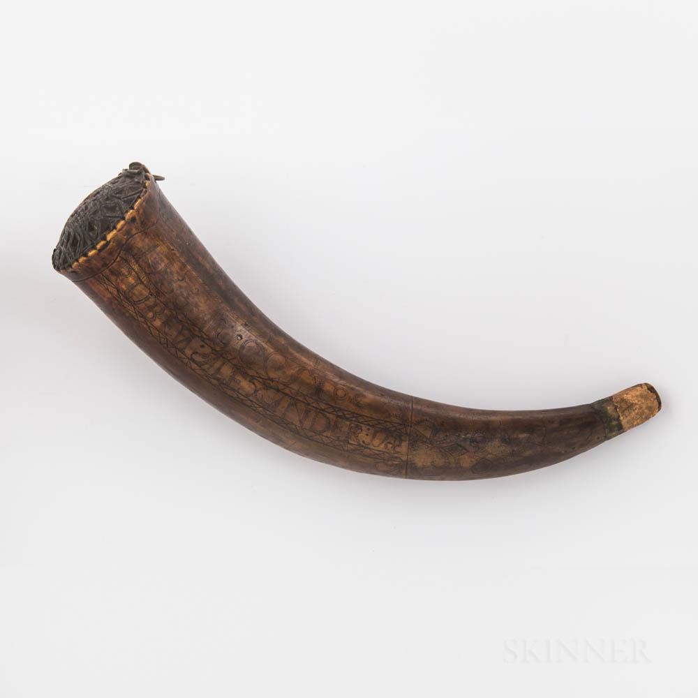 Reuben Alexander's Powder Horn