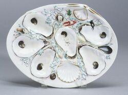 Four Union Porcelain Oyster Plates