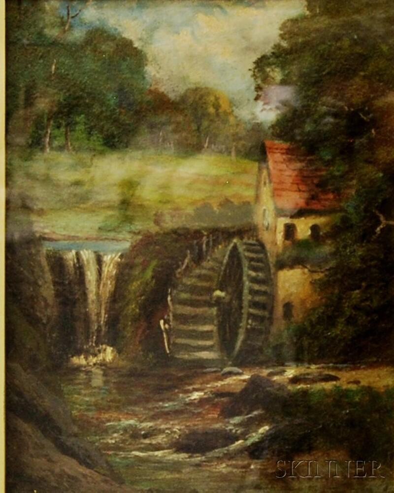 American School, 19th Century       Mill Scene