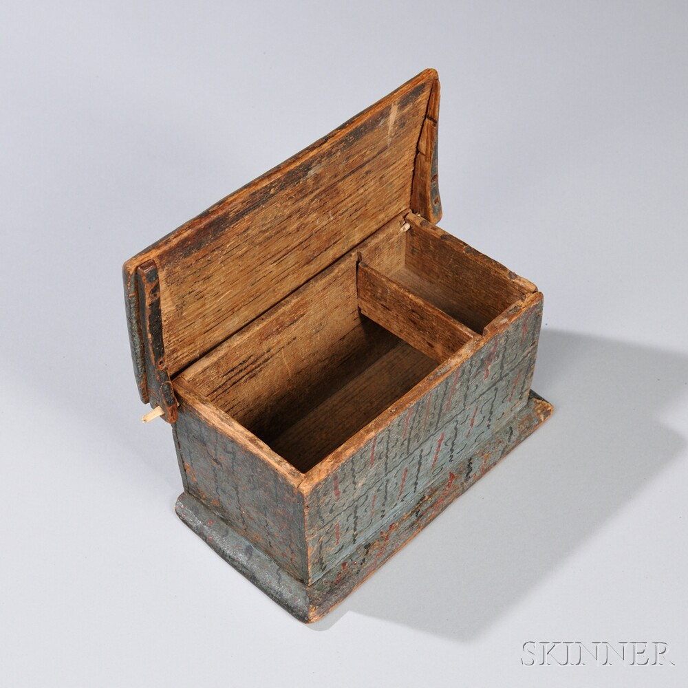 Miniature Paint-decorated Six-board Box