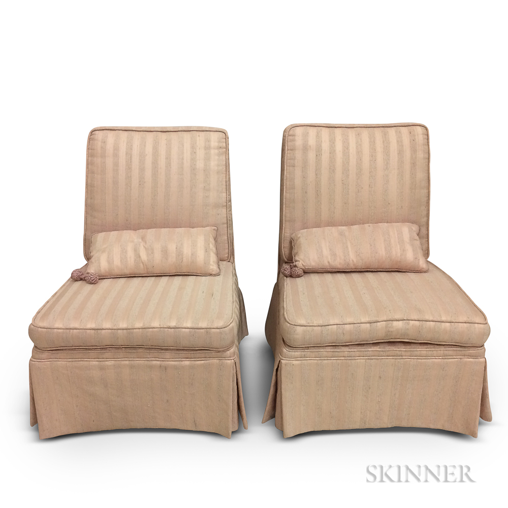 Two Dunbar Slipper Chairs