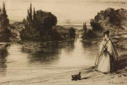 Sir Francis Seymour Haden (British, 1818-1910)  The Towing Path