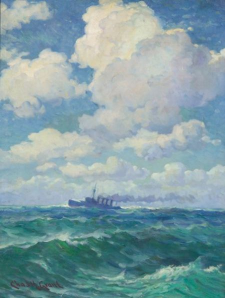 Charles Henry Grant (American, 1866-1938)    Steamer on the High Seas