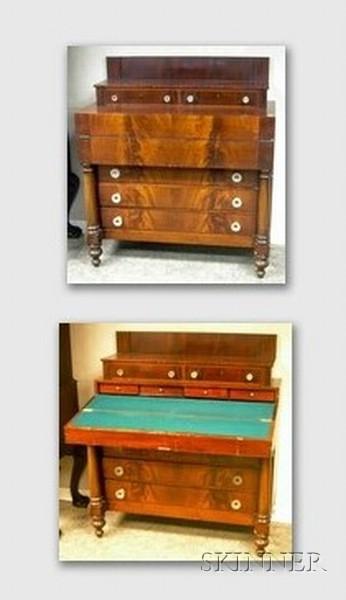 Empire Mahogany Veneer Writing Desk/Bureau.