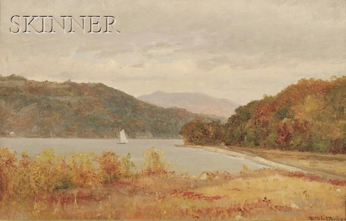 Worthington (Thomas) Whittredge (American, 1820-1910)      A Grey Day on the Hudson